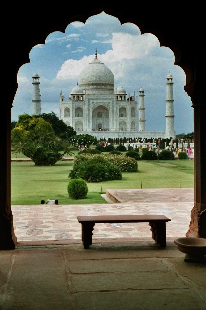 Door to Taj Mahal