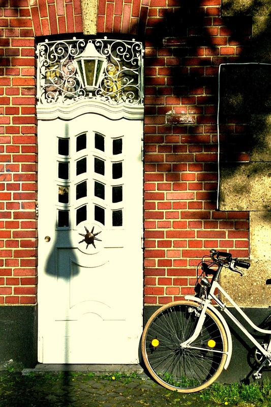Door with a bike