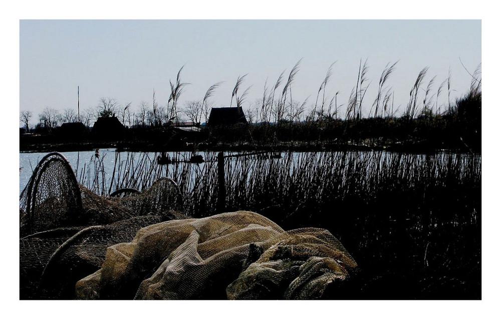 Dopo la pesca in laguna di Venezia