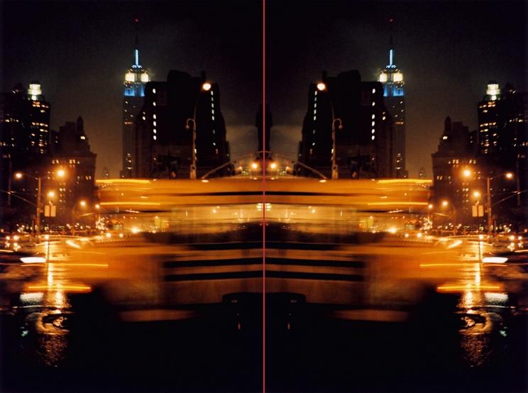 Doppelbilder NightRainBus