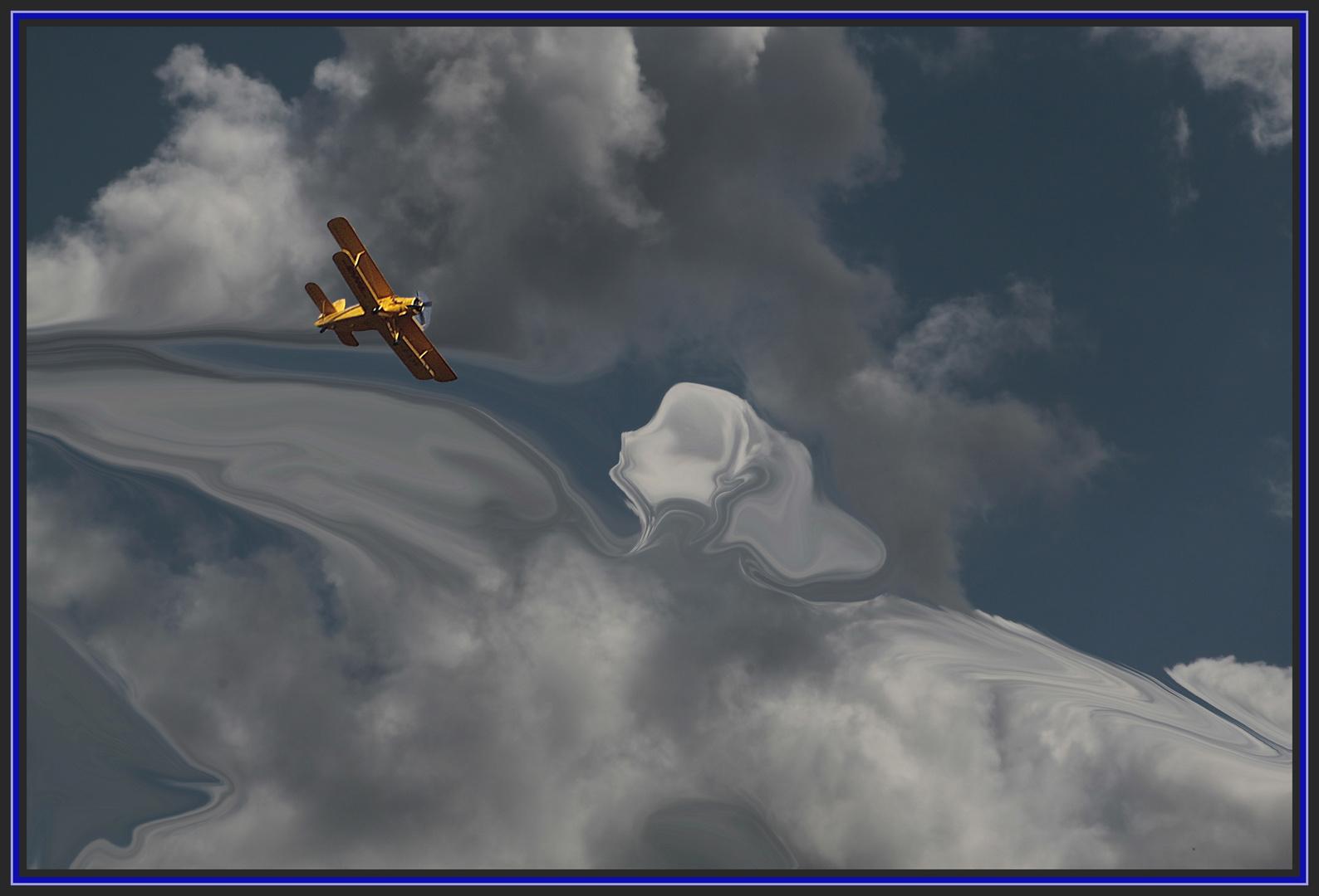 Doppeldecker und Wolkenengel