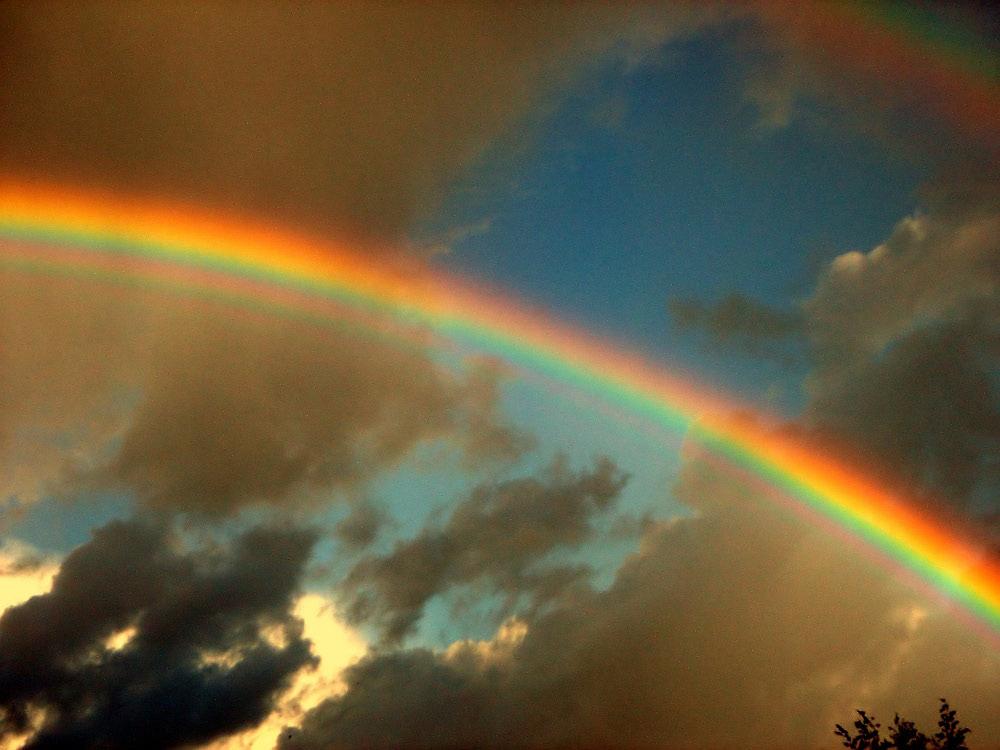 Doppelten Regenbogen nach einem Gewitter....