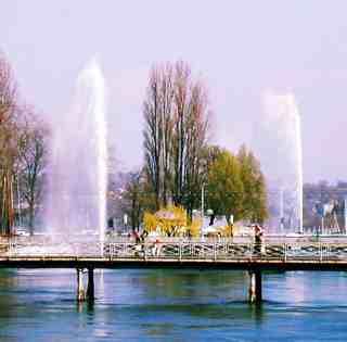 doppelter Genfer Springbrunnen
