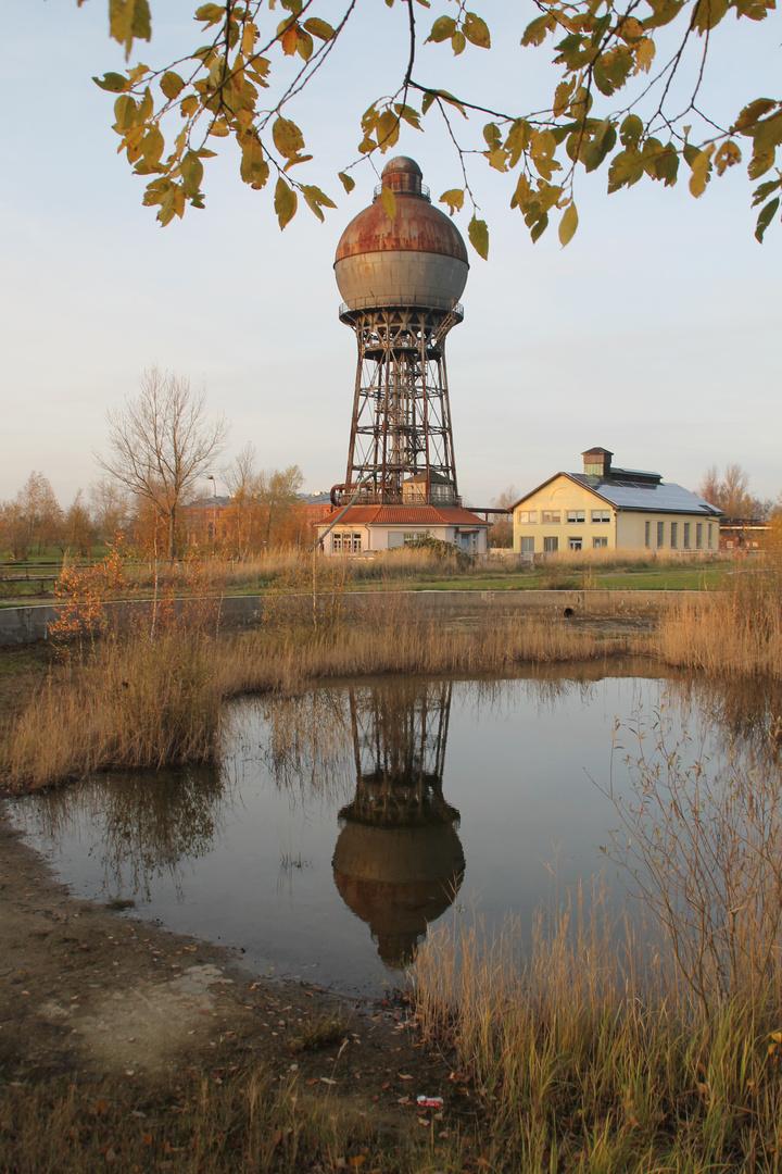 Doppelter Kugelwasserturm