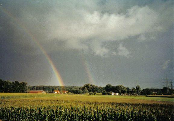 Doppelter Regenbogen über Rhade :)