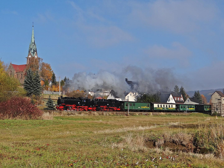 Doppeltraktion an der Fichtelbergbahn