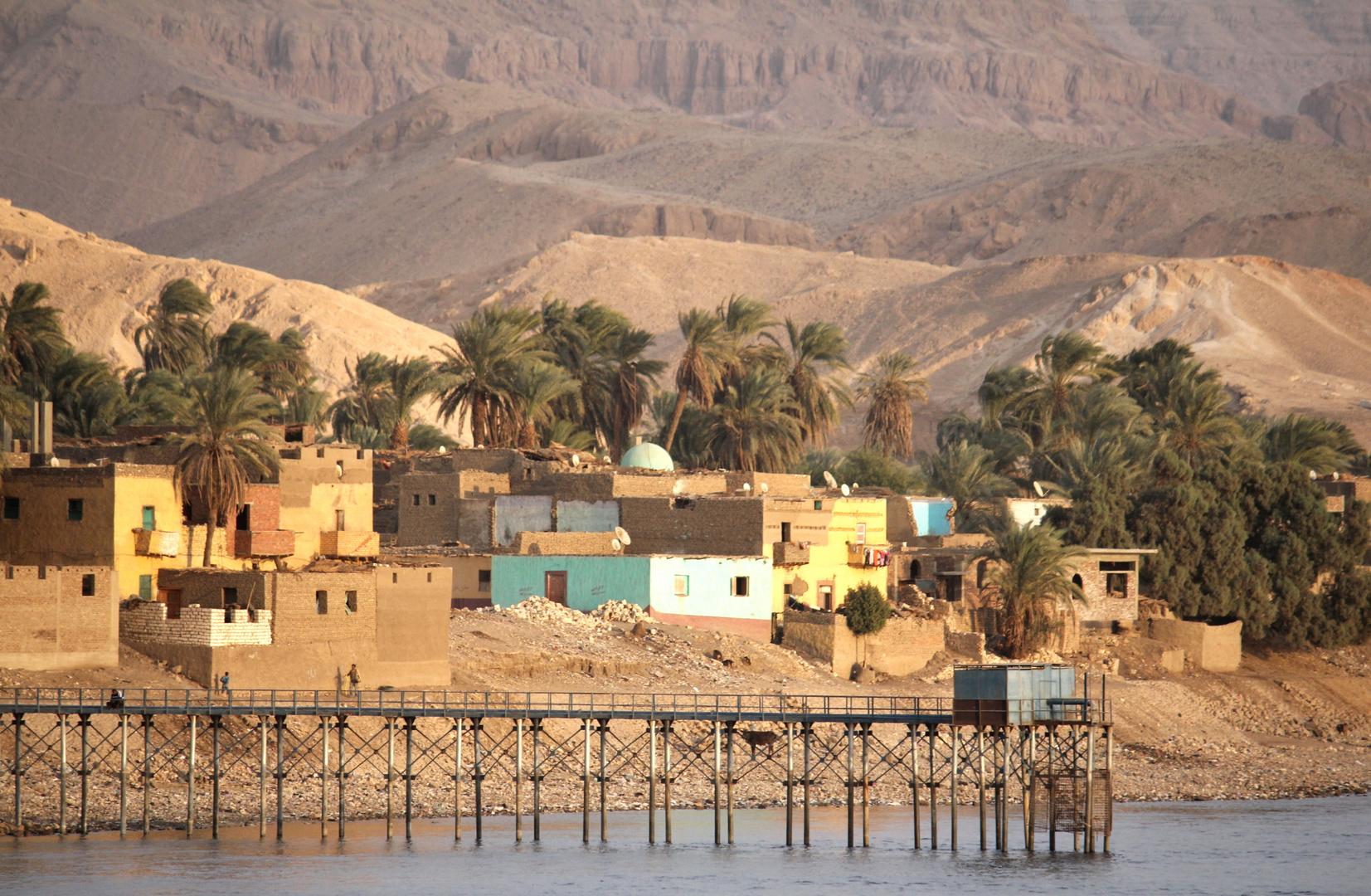 Dorf am Nilufer