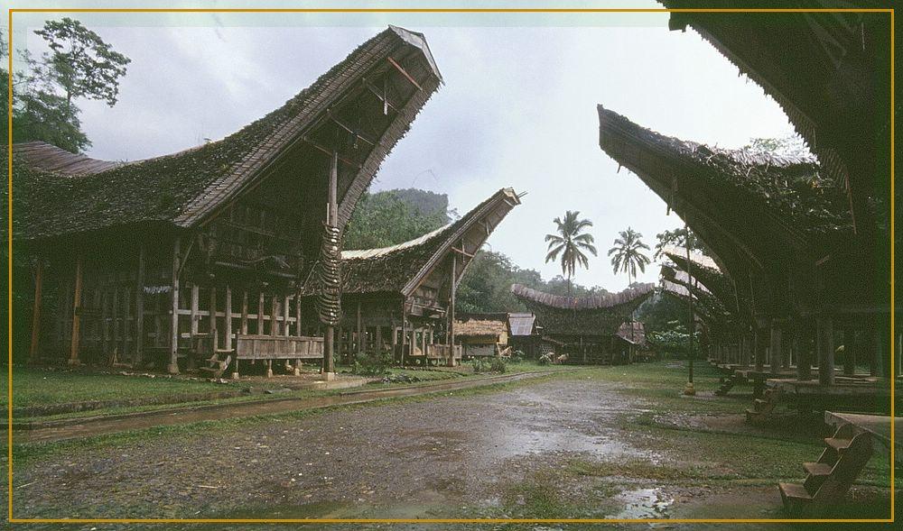 Dorf der Toraja in Sulawesi