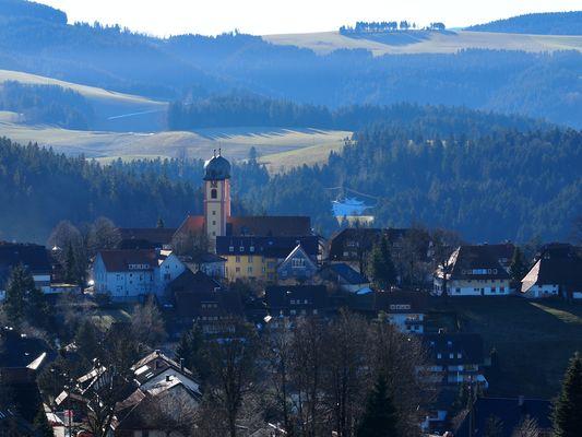 Dorf im Januar