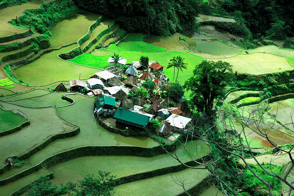 Dorf in den Bergen der Philippinen