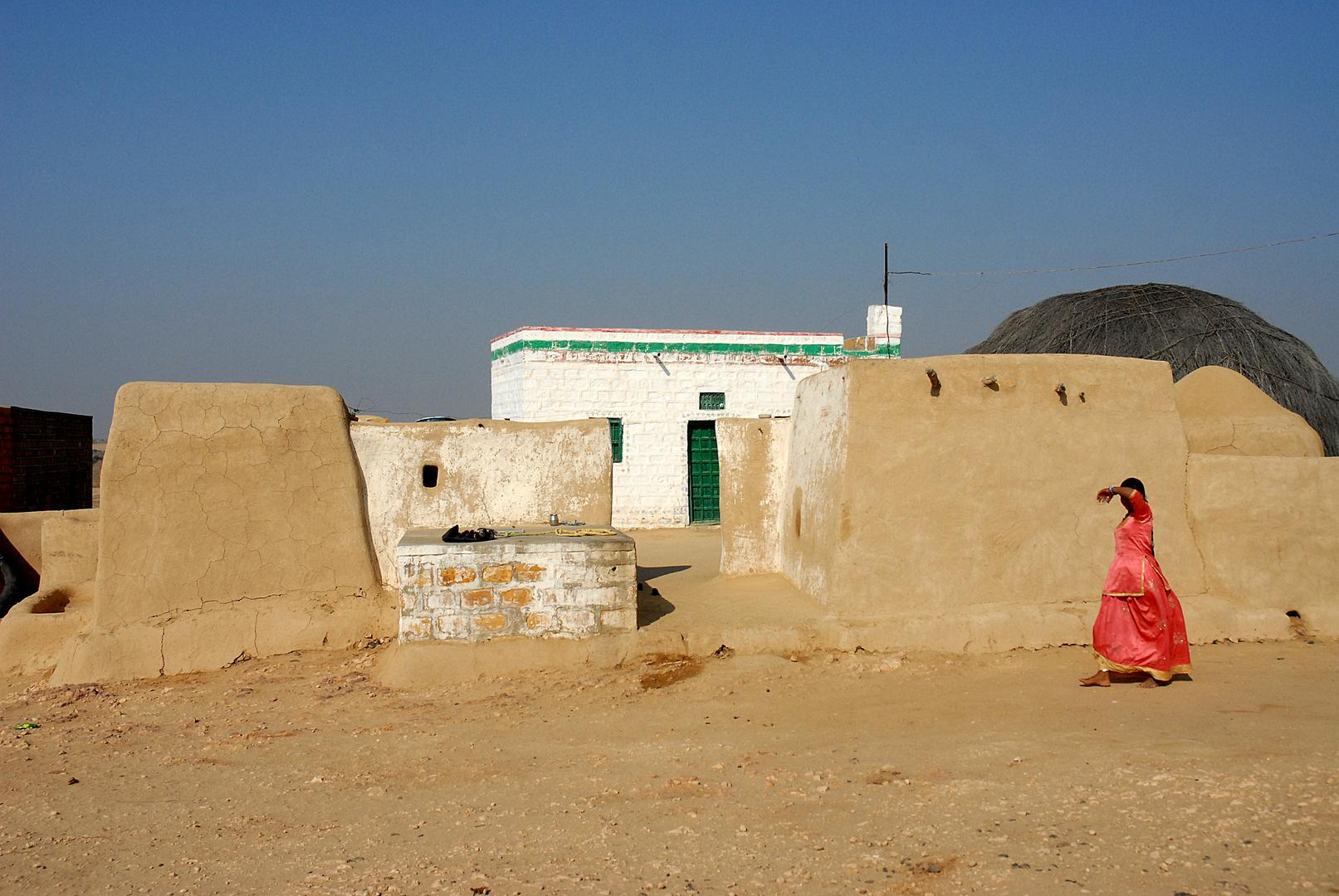 Dorf in der Thar