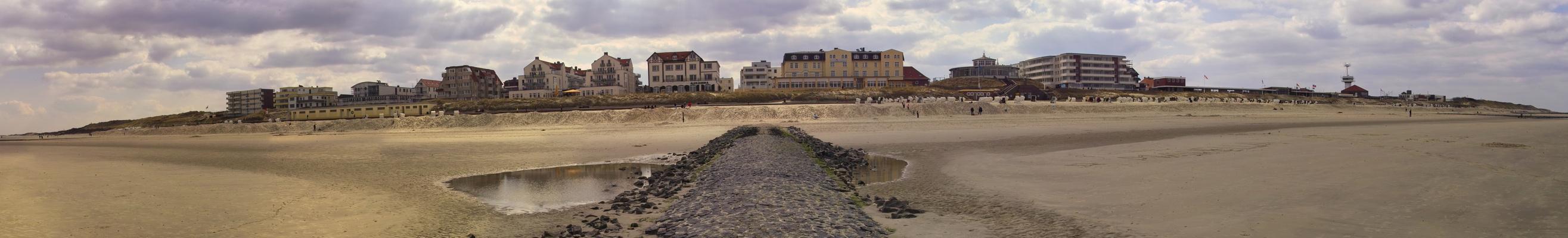 Dorf vom Strand