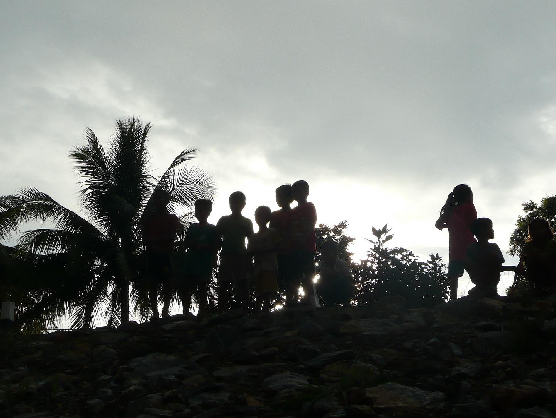Dorfkinder am Mekong