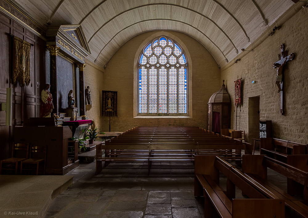 Dorfkirche Plozevet, Bretagne, Finistére
