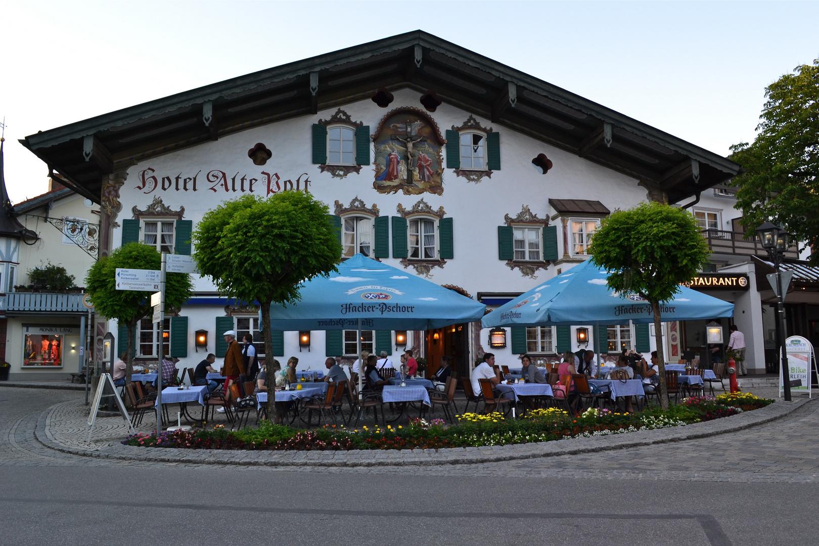 Dorfplatz in Oberammergau