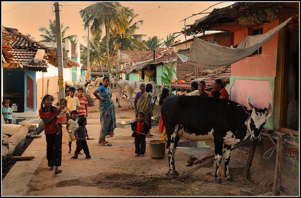 Dorfstraße in Somnathpur
