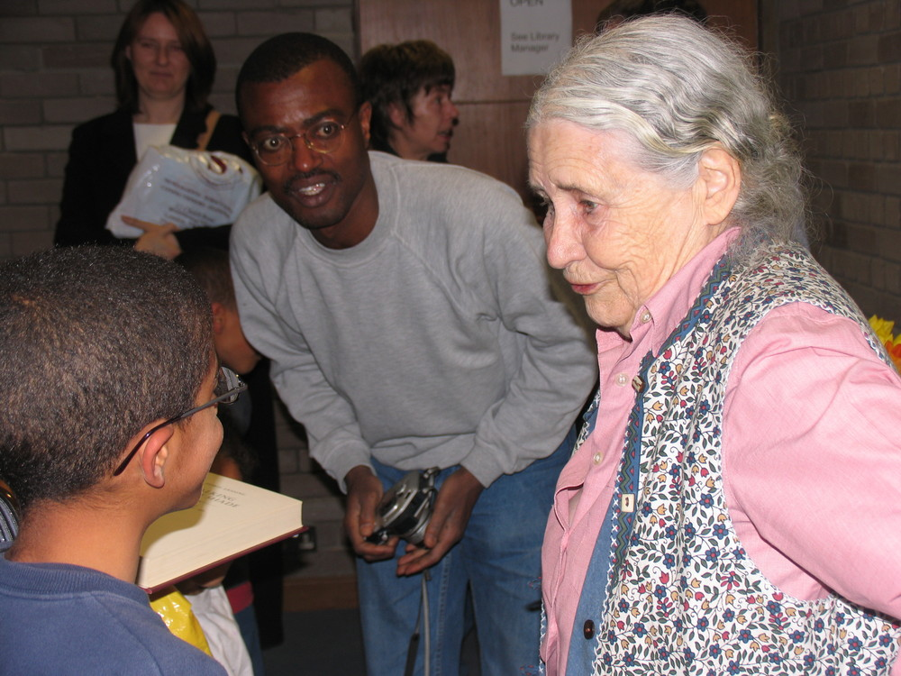 Doris Lessing at Swiss Cottage Library