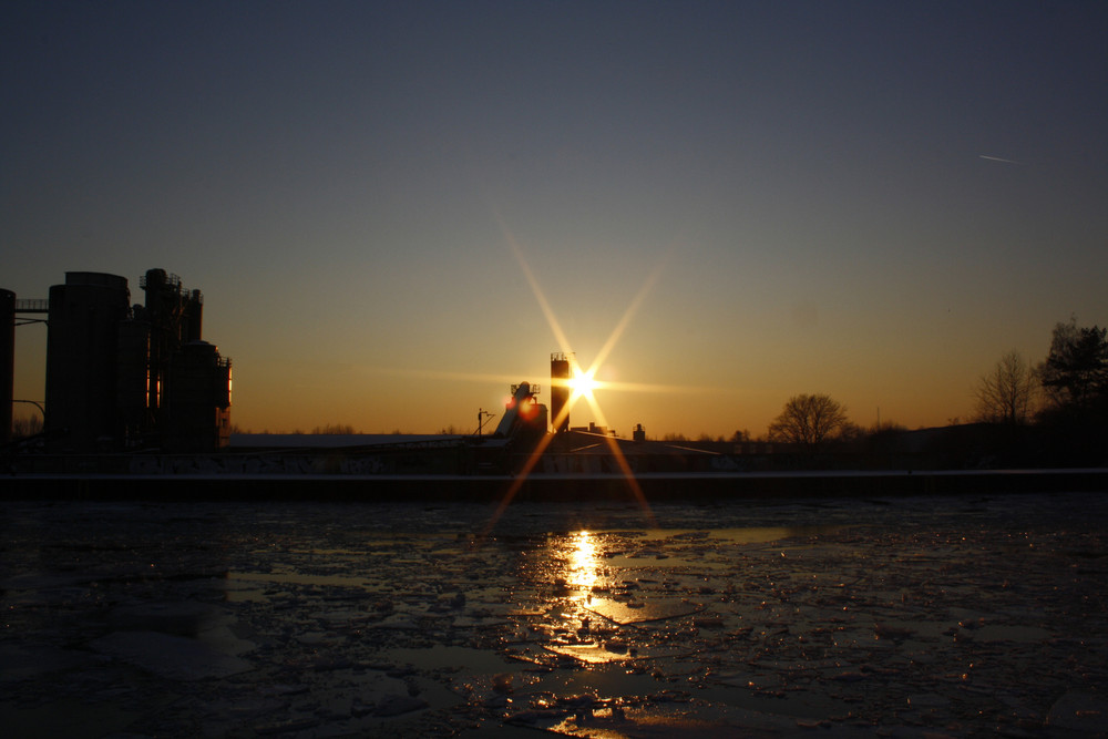 Dortmund-Ems Kanal Sonnenuntergang