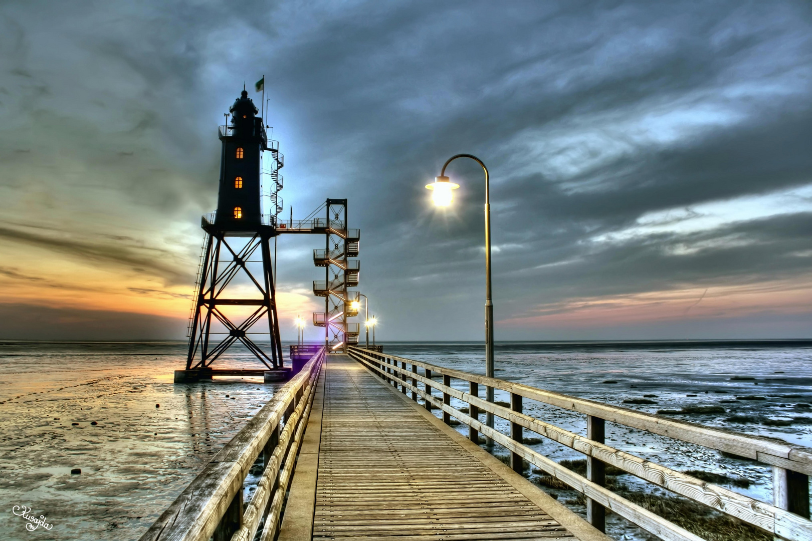 Dorumer Leuchtturm Obereversand - HDR