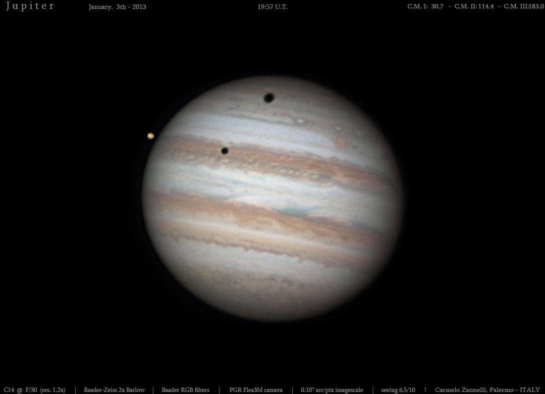 Double eclipse on Jupiter
