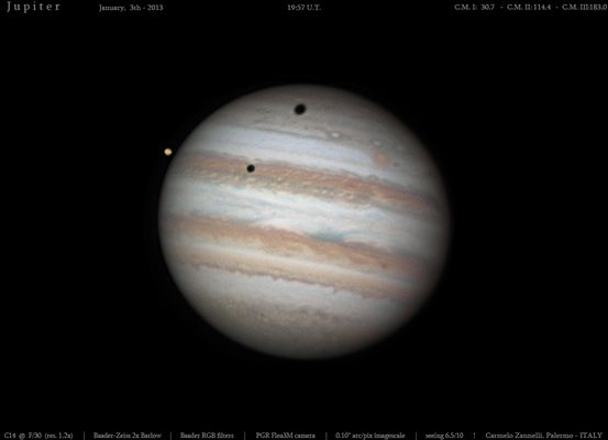 Double eclipse on Jupiter