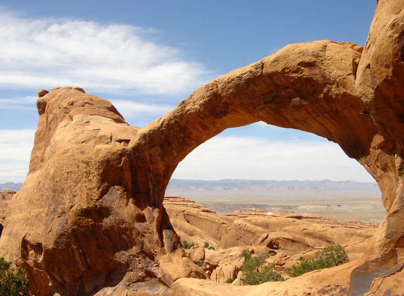 Double O Arch - The upper one...