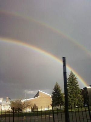 Double Rainbow over North Philadelphia