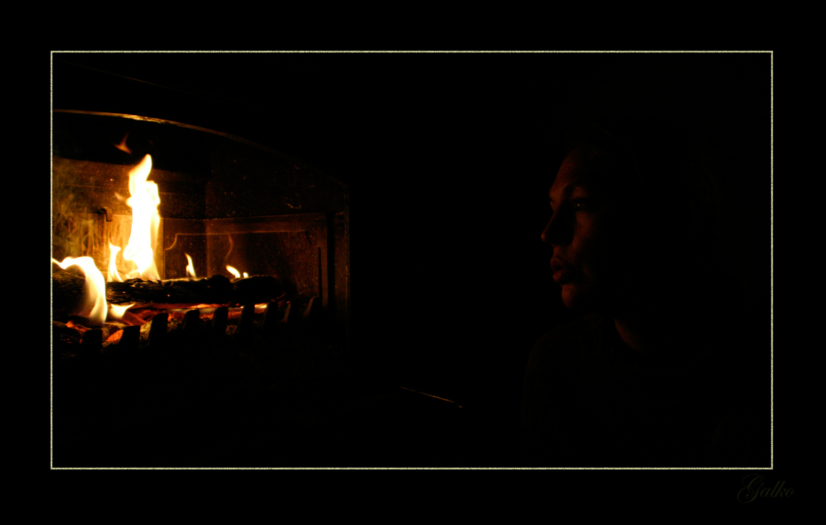 Douce pensée auprès du feu