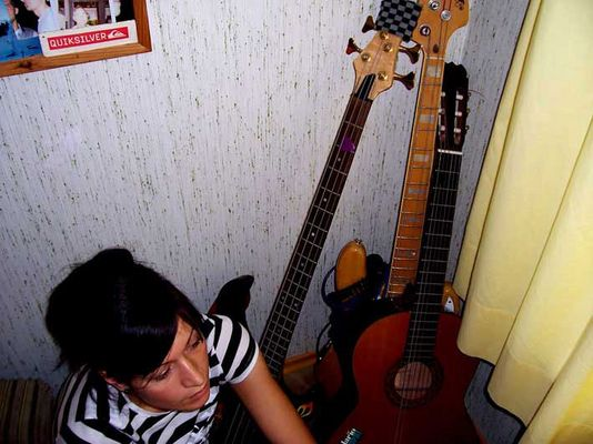 down with my guitars