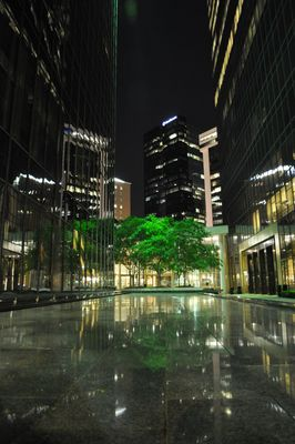Downtown Charlotte bei Nacht