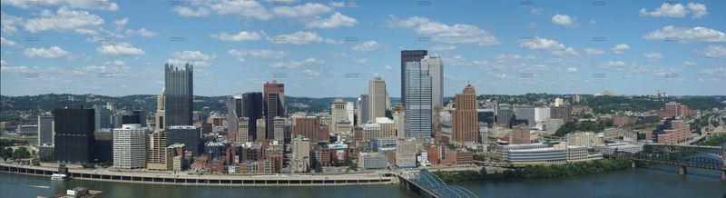 Downtown Pittsburgh vom Mount Washington aus