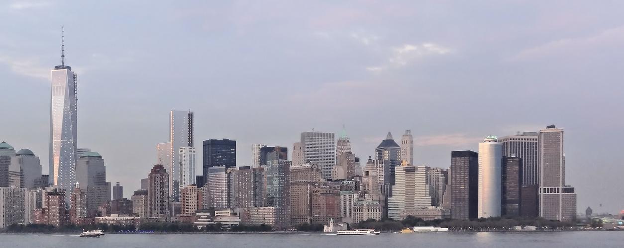 downtown-skyline zu später stunde