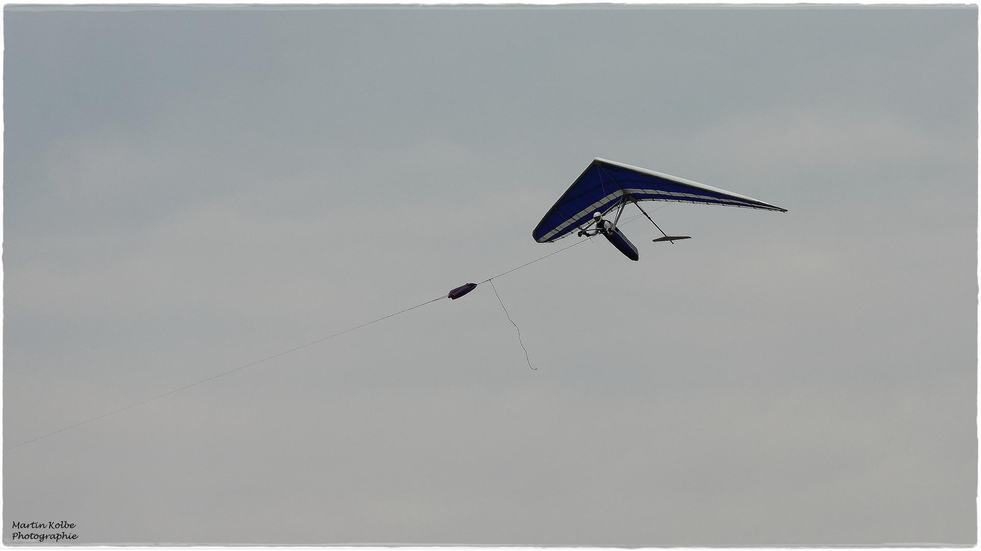 Drachen beim Schlepp 500 m Ausklinkhöhe