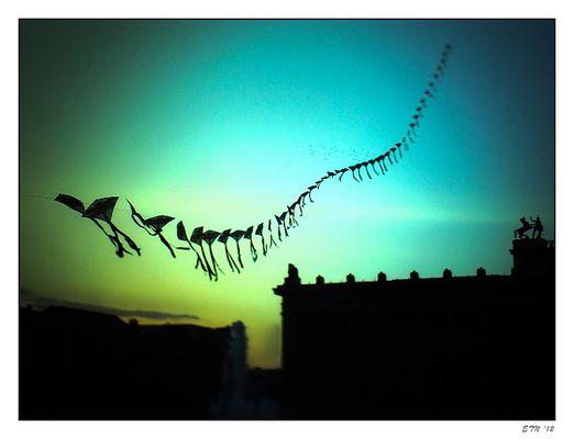 Drachen über dem Lustgarten