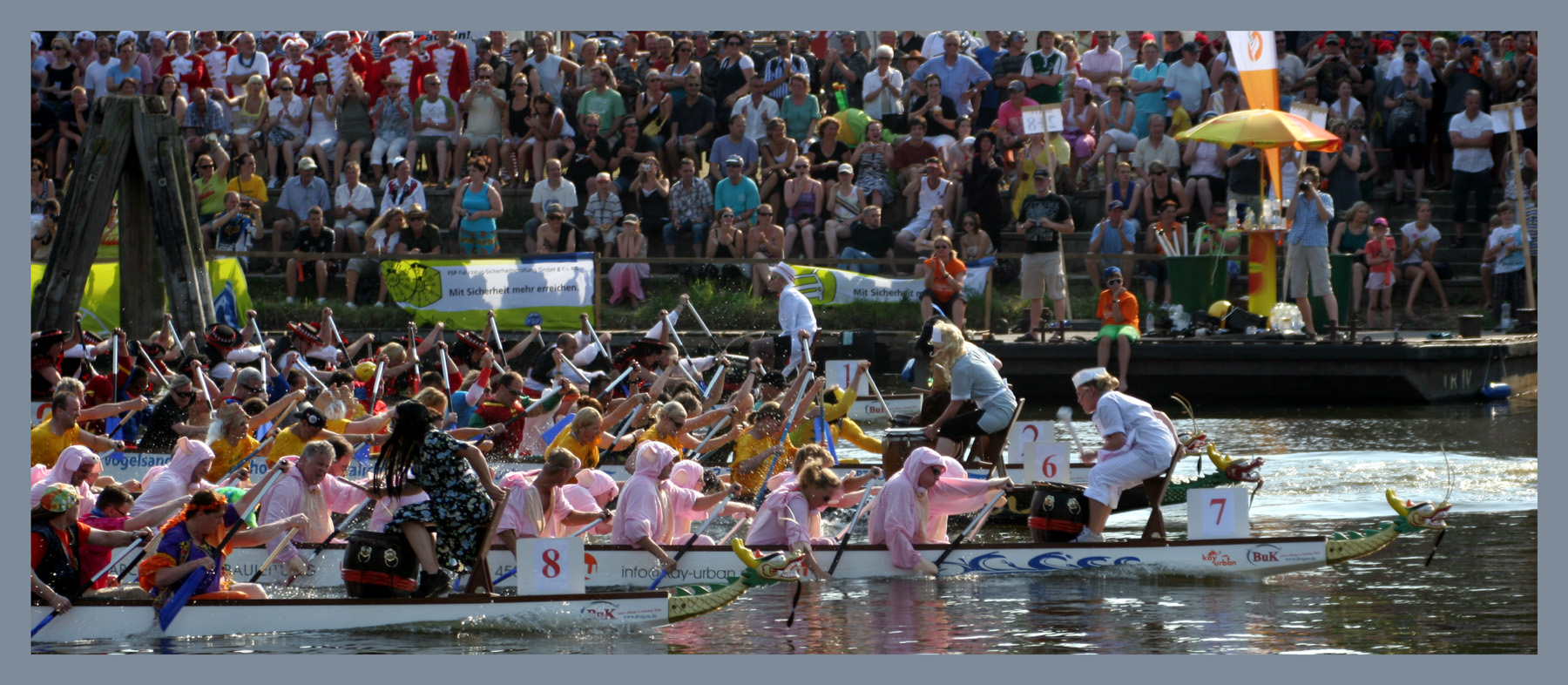 Drachenbootfestival in Lübeck