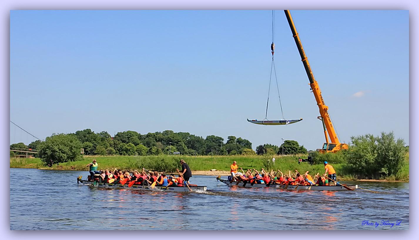 Drachenbootrennen 2013 in Minden