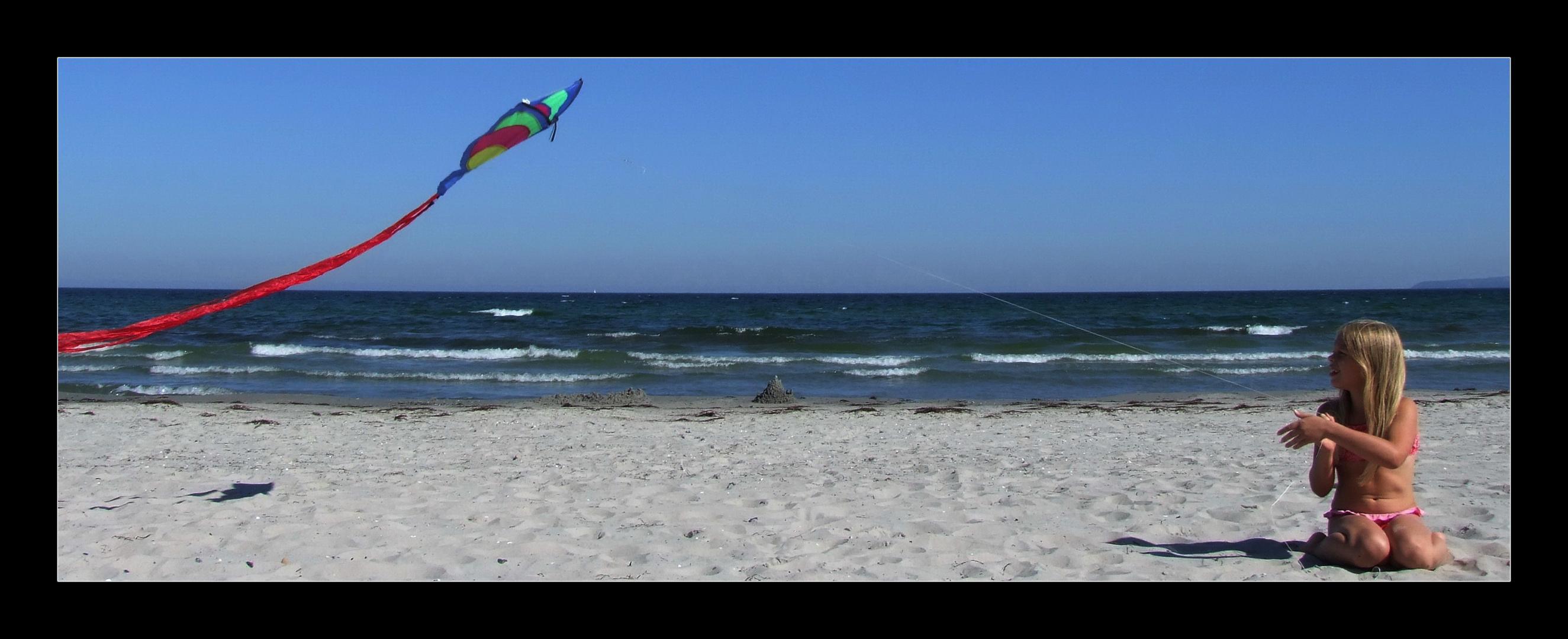Drachendame die Erste (am Strand von Rügen)