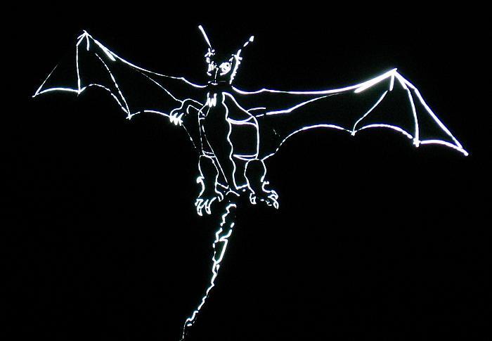 Drachendrachen bei Nacht