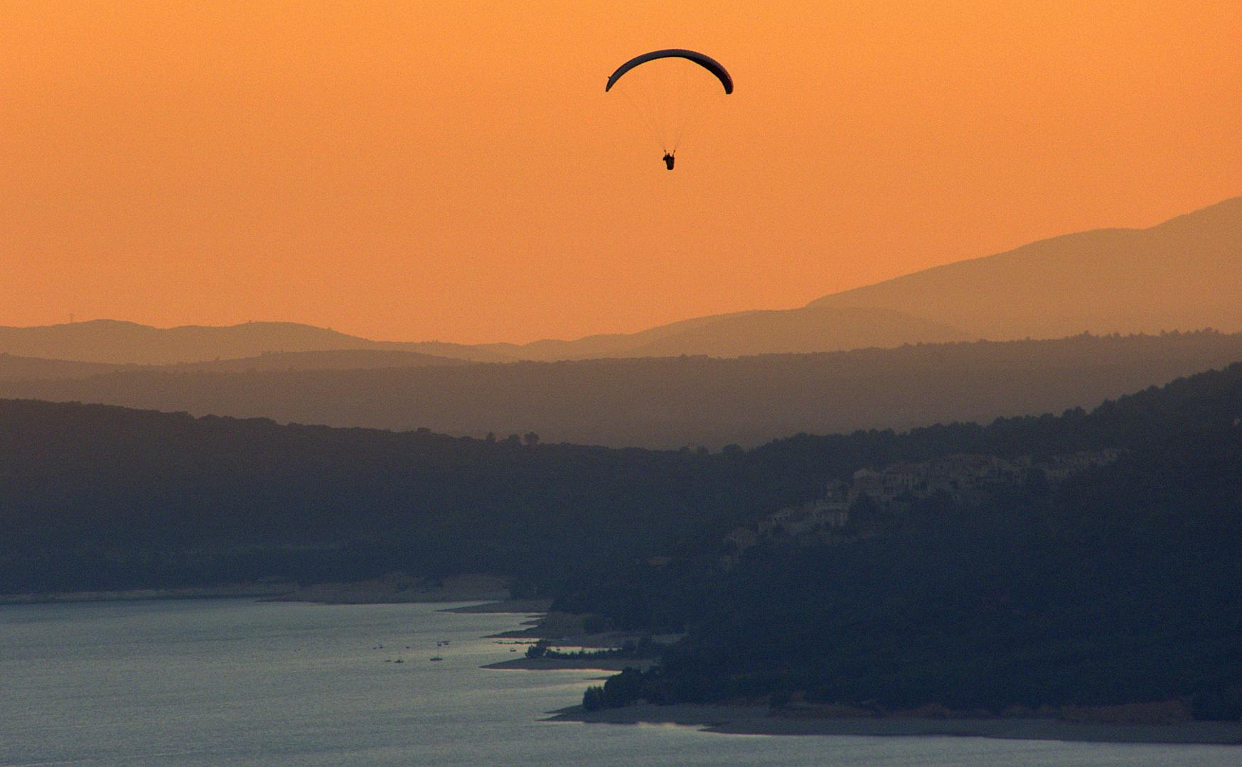 Drachenfliegen am Lac-Saint-Croix