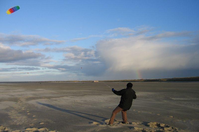 Drachenflug bei Windstärke 7