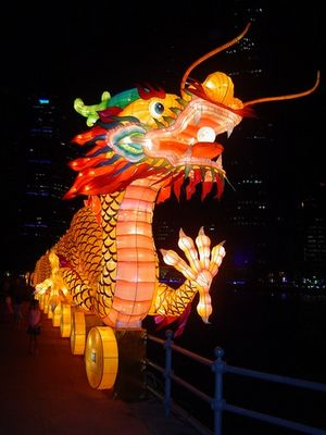 Dragon am Singapore River