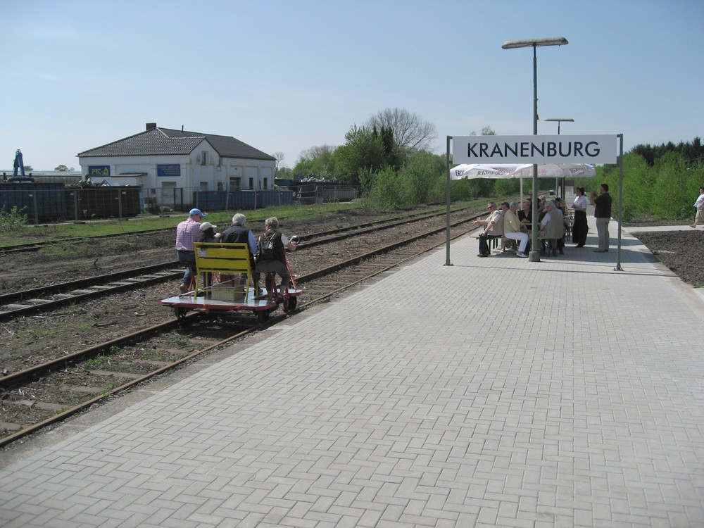 Draisinenbahnhof Kranenburg.