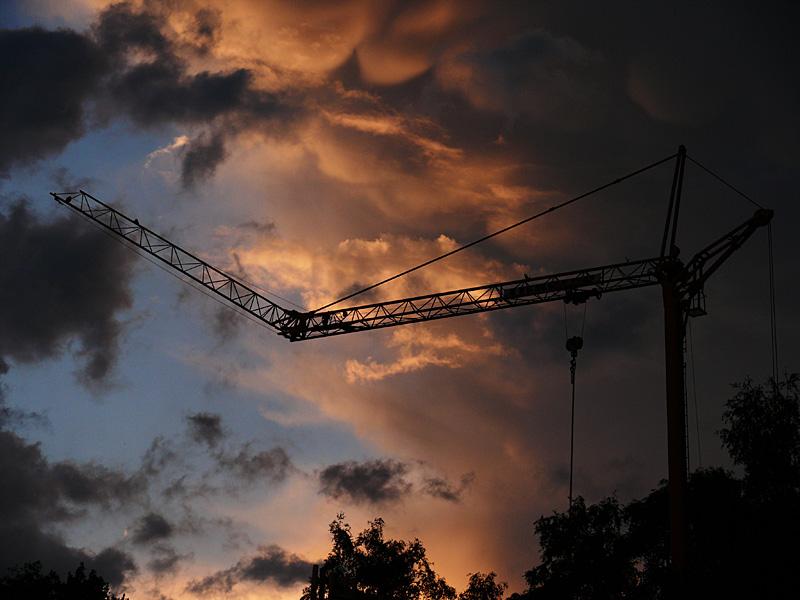 dramatische Wolkenformationen