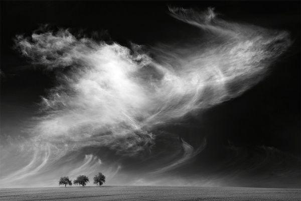 Dramatischer Wolkenhimmel 03, sw