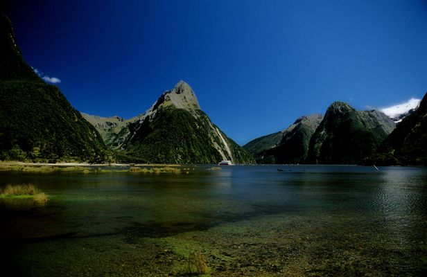 Dream weather at Milford Sound.
