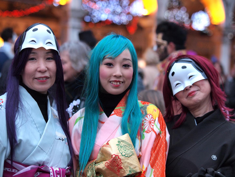 Drei Chinesinnen