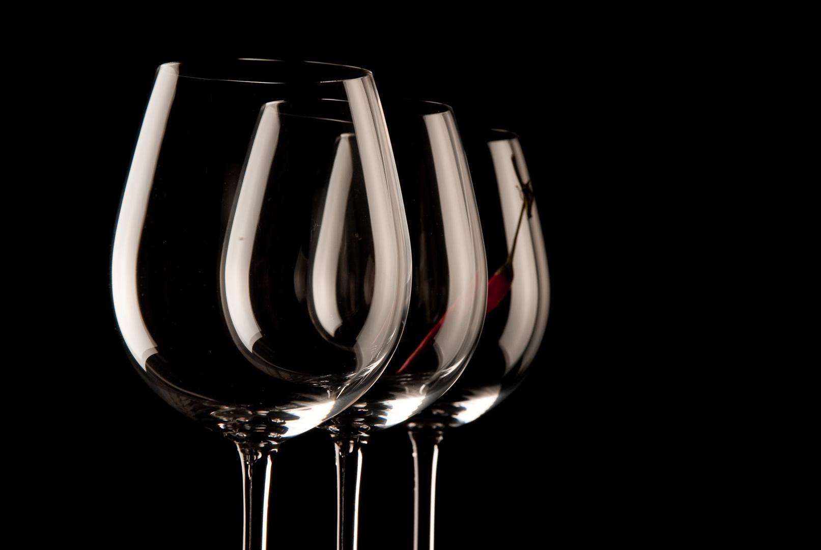 ...drei Gläser ...die zweite