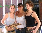 Drei junge Mädels