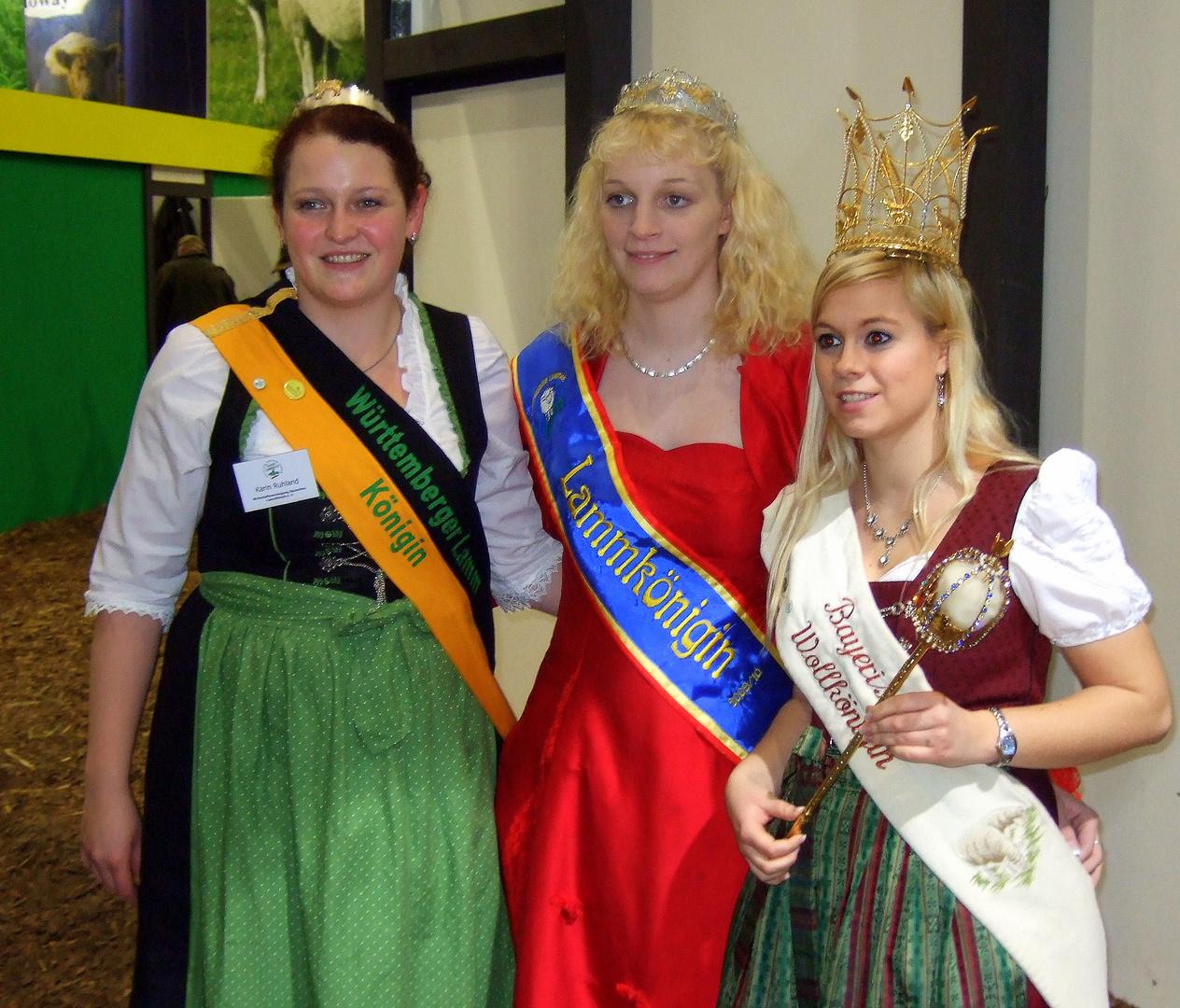 -Drei Königinnen auf der Grünen Woche  Berlin-