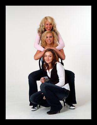 Drei Mädels und ein Lächeln....